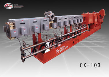 China 103mm Screw Diameter Twin Screw Extrusion Machine For Battery Separator Process supplier
