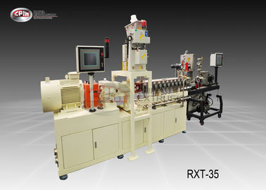 Laboratory Mini Plastic Extrusion Machine Reinforcing Or Compounding 35mm Screw Diamater
