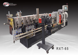 China 65mm Twin Screw Compounding Extruder / Filling Polythene Extrusion Machines supplier