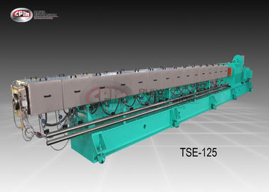 China Big Size Co Rotating Twin Screw Extruder For Plastic Pelleting Robust Frame Design supplier