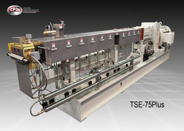 CPM Ruiya Extrusion Twin Screw Plastic Extruder , PP/PE/PS/PET/PC Double Screw Extruder