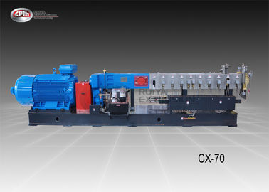 China Powder Coating Twin Screw Compounding Extruder With Lubrication System supplier