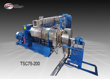 Twin Stage Cable Extrusion Line / Low Speed Cable Manufacturing Machine