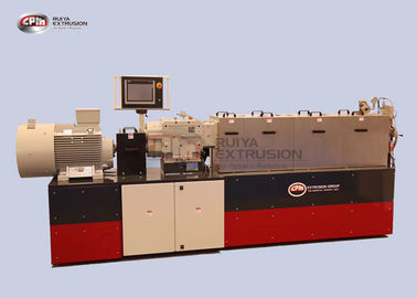 Filling Lab Scale Twin Screw Extruder , 35mm Double Screw Extruder Machine